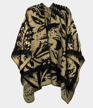 Load image into Gallery viewer, Reversible Paisley Ruana Poncho