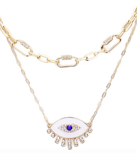 Chain Link Evil Eye Necklace