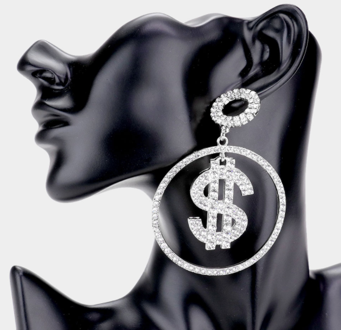 $ Rhinestone Earrings