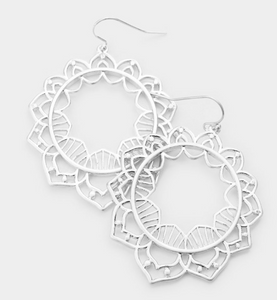 Floral Cut Out Earrings