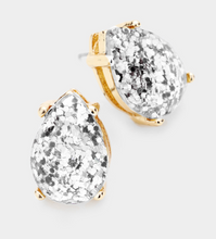 Load image into Gallery viewer, Teardrop Stone Stud Earrings