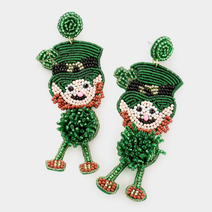 Leapin' Leprechaun Earrings