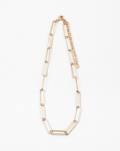 Paperclip Necklace - Gold