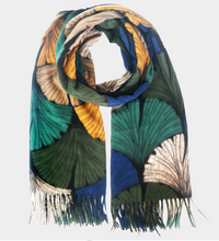 Load image into Gallery viewer, Large Ginkgo Leaf Print Scarf