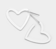 Load image into Gallery viewer, Metal Open Heart Earrings
