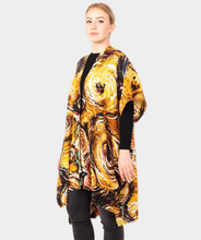 Load image into Gallery viewer, Abstract Print Kimono Poncho