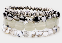 Load image into Gallery viewer, Semi Precious Multi Bead Stretch Bracelet