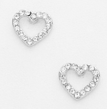 Load image into Gallery viewer, Heart Pave Stud Earrings