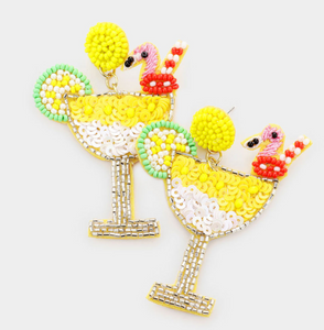 Flamingo Cocktail Earrings