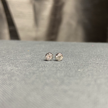 Load image into Gallery viewer, Sterling CZ Stud Earrings