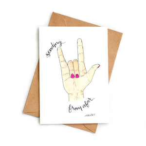 ASL Sending Love Card