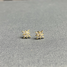 Load image into Gallery viewer, Sterling Starburst Earrings