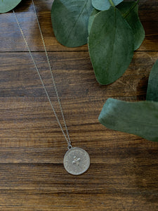 Cross Coin Dainty Necklace