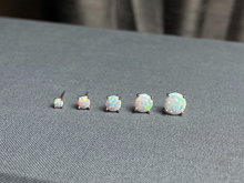 Load image into Gallery viewer, Sterling Opal Studs