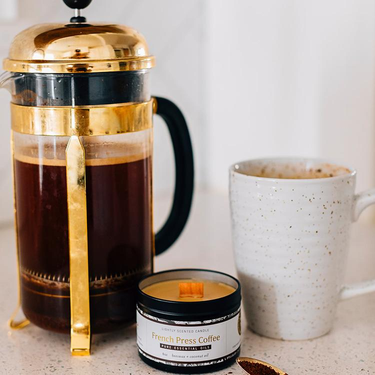 French Press Coffee Candle