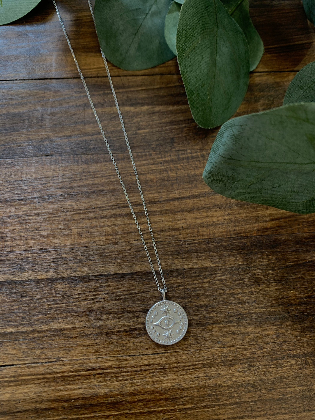 Third Eye Coin Dainty Necklace