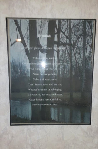 Gratitude Framed Poem