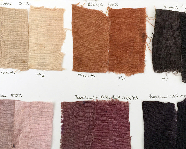 Natural Dye Swatched from Honest Alchemy