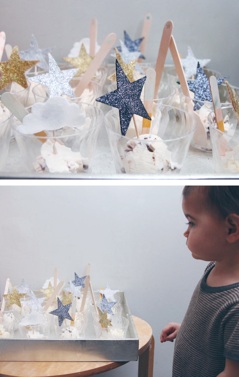 Star Bright Birthday - utensils by Sucre Shop / Glitter Stars by Mosey Handmade