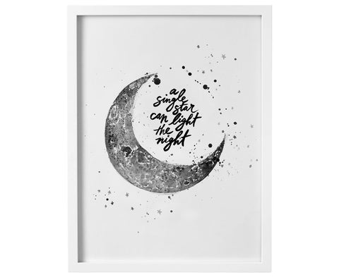 A Single Star digital download print - Baby Jives Co
