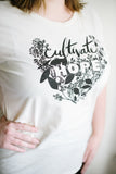 Cultivate Hope Organic Tee in Natural - Baby Jives Co