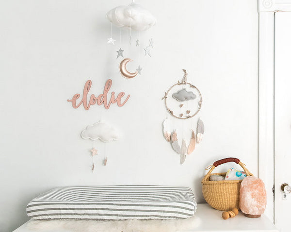 Luxe Star + Moon Cloud Mobile - Baby Jives Co