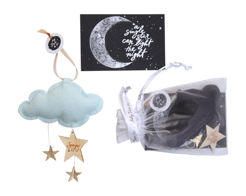 Luxe Mini Star Cloud Keepsake PERSONALIZED with your text - Baby Jives Co