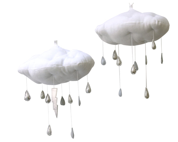 PREORDER Luxe Silver + Gray Color Fade Raincloud - Baby Jives Co