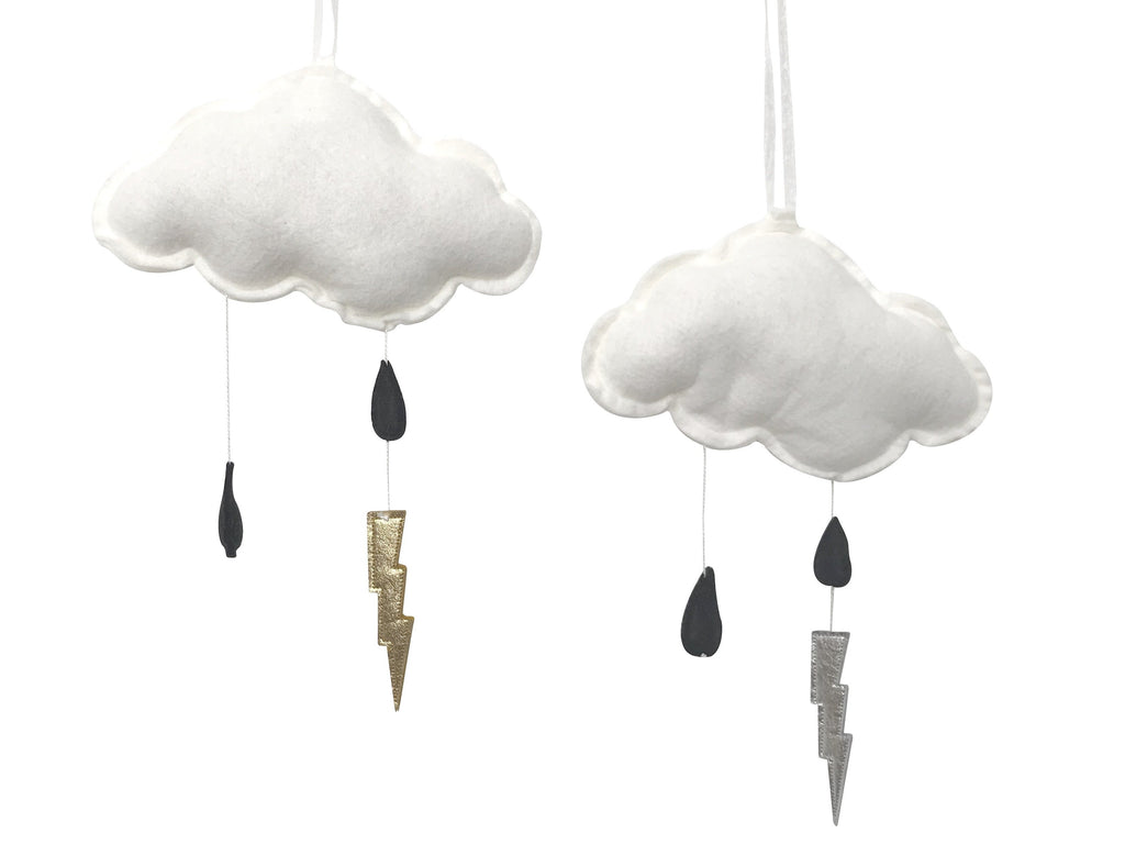 Black Storm Cloud Wall Hung Mobile - Baby Jives Co
