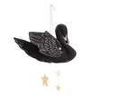 Swan Mobile in Black and Luxe Metallic Leather - Baby Jives Co