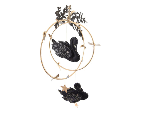 Swan Lake Mobile in Black - Baby Jives Co