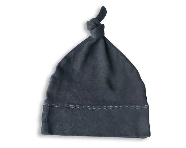 Charcoal Naturally Dyed Baby Hat