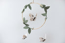 Luna Moth Mobile - Gold + White - Baby Jives Co