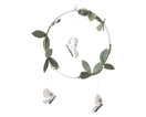 Luna Moth Mobile - Silver + White - Baby Jives Co