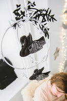 Swan Lake Mobile in Black  and Luxe Metallic Leather - Baby Jives Co