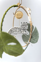 Tiger in the Jungle Luxe Mobile in Green and Gold - Baby Jives Co