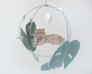 Tiger in the Jungle Luxe Mobile in Peach and Silver - Baby Jives Co