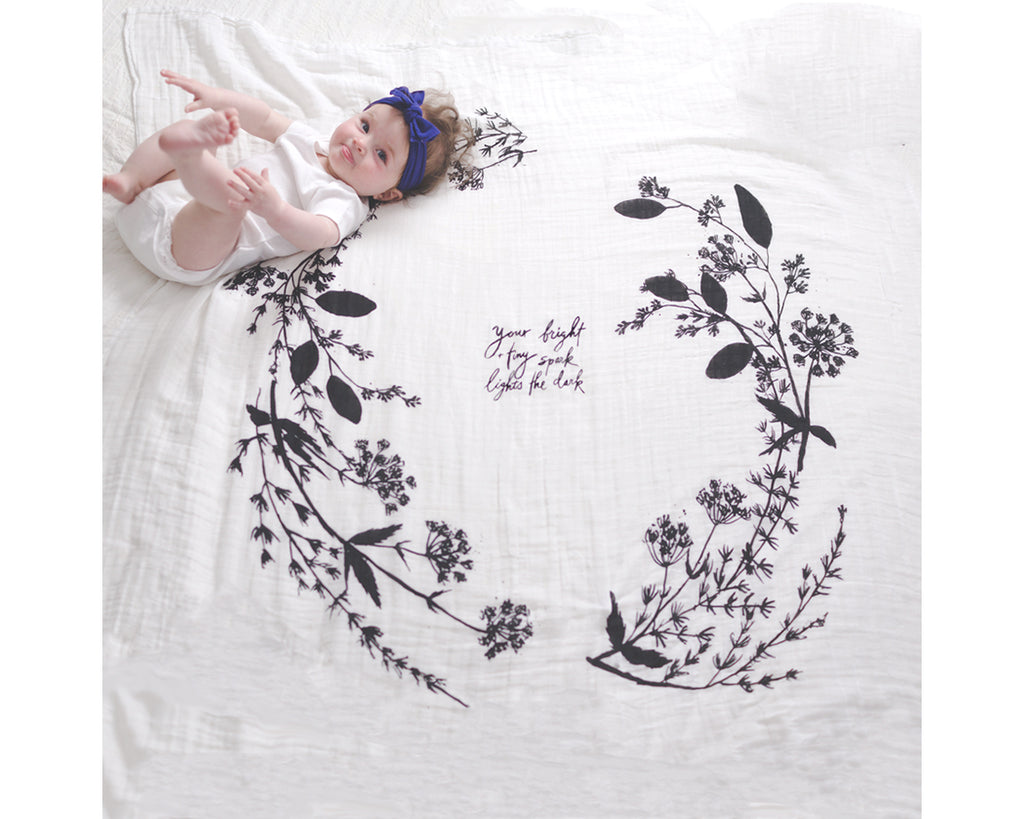 Organic Cotton Swaddle Blanket - Garland - Baby Jives Co