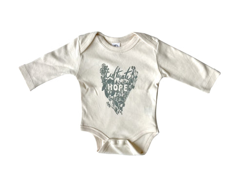 Cultivate Hope Bodysuit Natural - Baby Jives Co