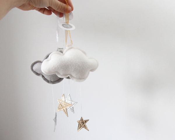 Luxe Mini Star Cloud - Choose Cloud and Star Color - Baby Jives Co