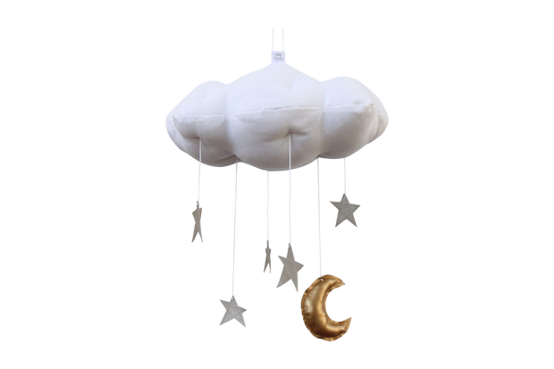 Star Cloud Mobile in White and Silver 1