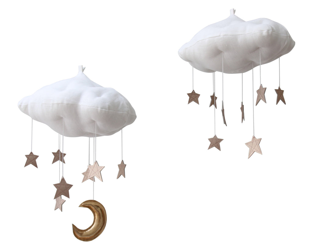 Luxe Rose Gold Star Cloud Mobile - Baby Jives Co