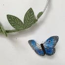 Studio Sale - Butterfly Mobile in Indigo, Silver and Green - Baby Jives Co