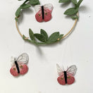 Studio Sale - Butterfly Mobile in Coral, Green + Gold - Baby Jives Co