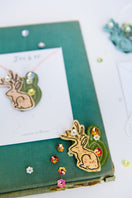 Clever like a Jackalope - Necklace or Pin