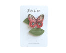 Coral Butterfly + Leaf Clips - Baby Jives Co