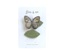 Gold Luna Moth + Leaf Clips - Baby Jives Co