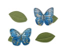 Indigo Butterfly + Leaf Clips - Baby Jives Co