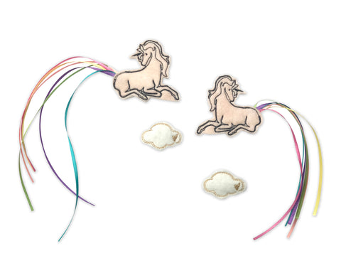 Pink Unicorn + Cloud Clips - Baby Jives Co