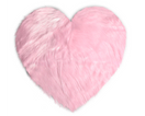 Kroma Carpets - Machine Washable Faux Sheepskin Heart Area Rug - Cotton Candy Pink